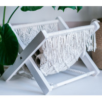 Holder for magazines, books in macrame technique Video RUS