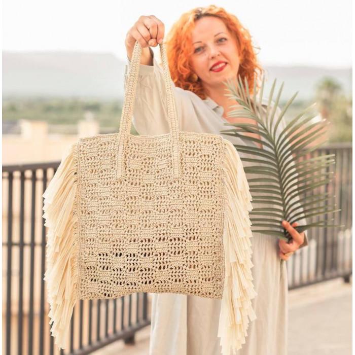Savannah bag from raffia Video RUS