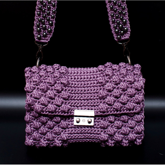 Polyester Cord Crossbody Bon Bon Bon Purple Bag