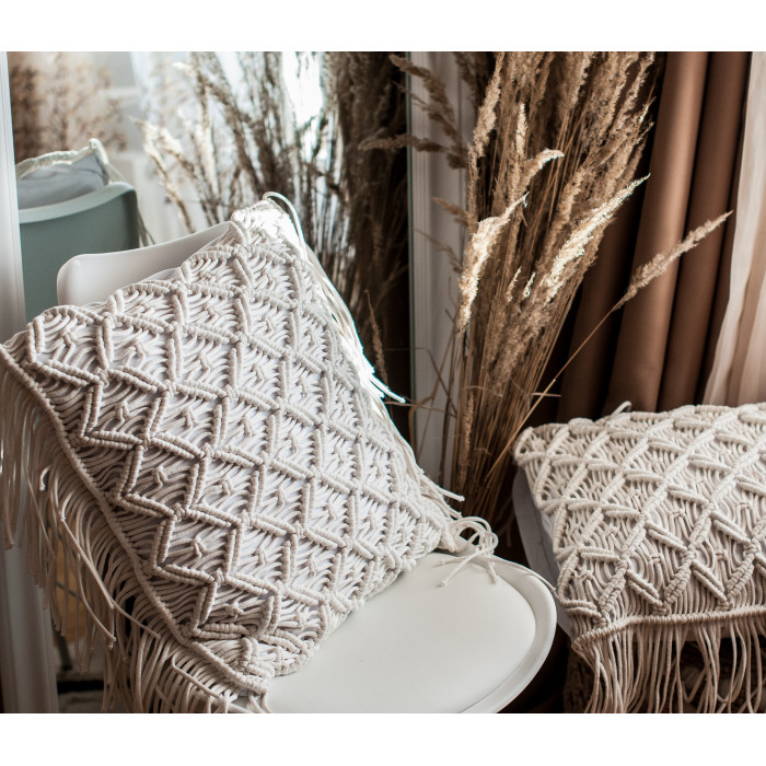 Macrame cushion Video RUS