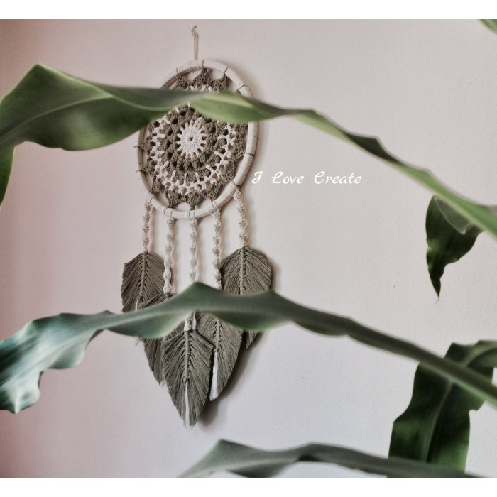 Dreamcatcher in macrame and crochet technique Video RUS