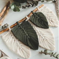 Feathers macrame wall hanging Video RUS