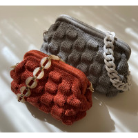 Voluminous clutch Wave knitting Video RUS