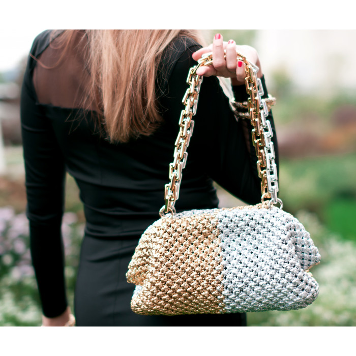 Macrame Clutch with clasp Video RUS